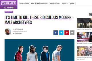 It's Time to Kill These Ridiculous Modern-Male Archetypes