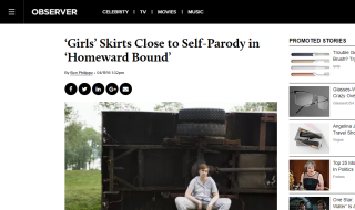 'Girls' Skirts Close to Self-Parody in 'Homeward Bound'