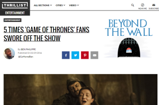 5 Times 'Game of Thrones' Fans Swore Off The Show
