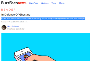 In Defense Of Ghosting