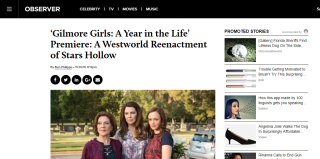 Gilmore Girls: A Year in the Life' Premiere: A Westworld Reenactment of Stars Hollow