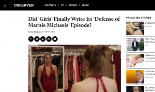 Did 'Girls' Finally Write Its 'Defense of Marnie Michaels' Episode?